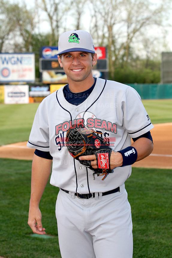 April 11 2010: Brian Dozier of the Beloit Snappers at Elfstrom Stadium in Geneva, IL. The Snappers are the Low A affiliate of the Minnesota Twins. Photo by: Chris Proctor/Four Seam Images