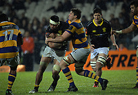 Culum Retallick scrags Vaea Fifita during the Mitre 10 Cup rugby union match between Bay of Plenty and Wellington at Rotorua International Stadium in Rotorua, New Zealand on Thursday, 31 August 2017. Photo: Dave Lintott / lintottphoto.co.nz