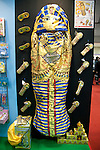 February 7, 2013, Tokyo, Japan - A sleeping bag as Egyptian sarcophagus at TIGS in Tokyo. The 75th Tokyo International Gift Show (TIGS) is an exhibition of personal gifts, consumer goods and decorative accessories. The TIGS is the largest International Trade Show in Japan, and held semi-annually, each Spring and Autumn at Tokyo Big Sight.  The exhibition is held on February 6 to 8. (Photo by Rodrigo Reyes Marin/AFLO)..