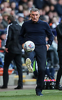 Blackburn Rovers' manager Tony Mowbray exercising his ball skills<br /> <br /> Photographer Andrew Kearns/CameraSport<br /> <br /> The EFL Sky Bet Championship - Bolton Wanderers v Blackburn Rovers - Saturday 6th October 2018 - University of Bolton Stadium - Bolton<br /> <br /> World Copyright © 2018 CameraSport. All rights reserved. 43 Linden Ave. Countesthorpe. Leicester. England. LE8 5PG - Tel: +44 (0) 116 277 4147 - admin@camerasport.com - www.camerasport.com