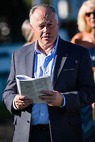 OLDSMAR, FLORIDA - FEBRUARY 11: Trainer Ian Wilkes in the Paddock, prior to the running of the Sam F. Davis Stakes at Tampa Bay Downs on February 11, 2017 in Oldsmar, Florida (photo by Douglas DeFelice/Eclipse Sportswire/Getty Images)