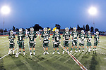 Placentia, CA 05/14/10 - Tony Gibbs (MC # 2), Alex Dodge (MC # 3), Cody Smith (MC # 7), Cole Russert (MC # 15), Conor Murphy (MC # 4), Thomas Farrell (MC # 18), Nick de la Espriella (MC # 28), Spencer Young (MC # 19), Dakota Randall (MC # 10) and Mitchell Hymowitz (MC # 8) wait during the introduction of the Foothill team.