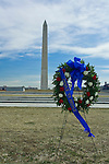 Washington D. C., Washington Monument, memorial wreath, not released