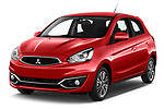 2019 Mitsubishi Spacestar Invite 5 Door Hatchback Angular Front stock photos of front three quarter view