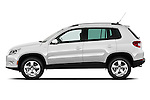 Driver side profile view of a 2010 Volkswagen Tiguan Wolfsburg SUV  Stock Photo
