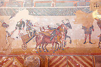 Circus Maximus - Ancient Roman mosaics at the Villa Romana del Casale, Sicily, Italy Pictures, Photos, Images & fotos