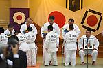 (L-R) Naohisa Takato,  Yoshiyasu Endo,  Kosei Inoue, Yasuhiro Yamashita, Masahiko Kimura (JPN), <br /> JULY 27, 2016 - Judo : <br /> Japan national team Send-off Party for Rio Olympic Games 2016 <br /> &amp; Paralympic Games <br /> at Kodokan, Tokyo, Japan. <br /> (Photo by AFLO SPORT)