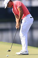 Jason Day (AUS) putts on the 14th green during Thursday's Round 1 of the 2017 PGA Championship held at Quail Hollow Golf Club, Charlotte, North Carolina, USA. 10th August 2017.<br /> Picture: Eoin Clarke | Golffile<br /> <br /> <br /> All photos usage must carry mandatory copyright credit (&copy; Golffile | Eoin Clarke)