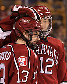 Nathan Krusko (Harvard - 13), John Marino (Harvard - 12) - The Harvard University Crimson defeated the Boston University Terriers 6-3 (EN) to win the 2017 Beanpot on Monday, February 13, 2017, at TD Garden in Boston, Massachusetts.