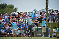 Mackenzie Hughes (CAN) watches his tee shot on 3 during round 3 of The Players Championship, TPC Sawgrass, at Ponte Vedra, Florida, USA. 5/12/2018.<br /> Picture: Golffile | Ken Murray<br /> <br /> <br /> All photo usage must carry mandatory copyright credit (&copy; Golffile | Ken Murray)