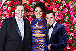 NEW YORK, NY - JUNE 10:  (L-R) Danny Skinner, Lilli Cooper, and Wesley Taylor attend the 72nd Annual Tony Awards at Radio City Music Hall on June 10, 2018 in New York City.  (Photo by Walter McBride/WireImage)