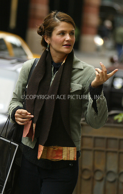 WWW.ACEPIXS.COM ** ** ** ....NEW YORK, OCTOBER 20, 2004....Helena Christensen seen out in SoHo in NYC.....Please byline: Philip Vaughan -- ACE PICTURES... *** ***  ..Ace Pictures, Inc:  ..Alecsey Boldeskul (646) 267-6913 ..Philip Vaughan (646) 769-0430..e-mail: info@acepixs.com..web: http://www.acepixs.com