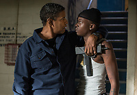 The Equalizer 2 (2018) <br /> Robert McCall (DENZEL WASHINGTON) shows Miles (ASHTON SANDERS) some tough love  <br /> *Filmstill - Editorial Use Only*<br /> CAP/MFS<br /> Image supplied by Capital Pictures