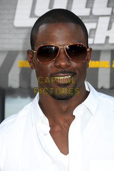 """LANCE GROSS .""""Lottery Ticket"""" Los Angeles Premiere held at Grauman's Chinese Theatre, Hollywood, California, USA,.12th August 2010.portrait headshot goatee facial hair sunglasses white shirt .CAP/ADM/BP.©Byron Purvis/AdMedia/Capital Pictures."""