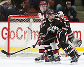 Sean Malone (Harvard - 17), Jake Goldberg (Brown - 7) - The visiting Brown University Bears defeated the Harvard University Crimson 2-0 on Saturday, February 22, 2014 at the Bright-Landry Hockey Center in Cambridge, Massachusetts.
