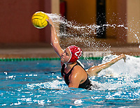 Stanford, California - March 1, 2019: Stanford Women's Water Polo defeats Santa Clara University 17-1 at Avery Aquatic Center in Stanford, California.