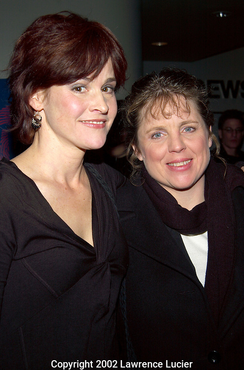 NEW YORK-DECEMBER 3: Actress Ally Sheedy (L) and Michael Crowe's mother Cheryl Crowe (R) arrive at the premier of Court TV's second original movie The Interrogation of Michael Crowe December 3, 2002, in New York City.