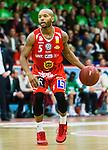 ****BETALBILD**** <br /> Uppsala 2015-04-24 Basket SM-Final 3 Uppsala Basket - S&ouml;dert&auml;lje Kings :  <br /> Uppsalas Thomas Jackson i aktion under matchen mellan Uppsala Basket och S&ouml;dert&auml;lje Kings <br /> (Foto: Kenta J&ouml;nsson) Nyckelord:  Basket Basketligan SM SM-final Final Fyrishov Uppsala S&ouml;dert&auml;lje Kings SBBK portr&auml;tt portrait