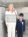 Max Curran from Aston Village Educate Together who recieved first holy communion in St Peters church West street with his mother Gina. Photo:Colin Bell/pressphotos.ie