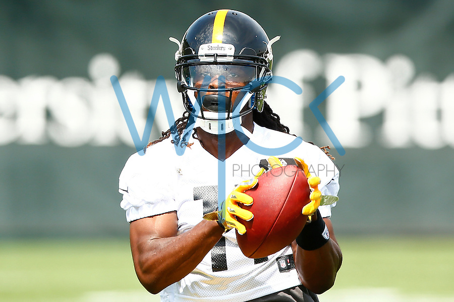 Markus Wheaton #11 of the Pittsburgh Steelers catches a pass during OTA's at the Rooney Sports Complex on the Side Side in Pittsburgh, Pennsylvania on May 31, 2016. (Photo by Jared Wickerham/DKPittsburghSports)