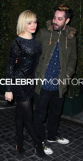 [(FILE) Actress Rose McGowan married artist Davey Detail on October 12, 2013] LOS ANGELES, CA - FEBRUARY 13: Actress Rose McGowan and artist Davey Detail attend the Topshop Topman LA Opening Party held at Cecconi's Restaurant on February 13, 2013 in Los Angeles, California. (Photo by Xavier Collin/Celebrity Monitor)