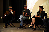 "WEST HOLLYWOOD - NOVEMBER 11: Marco Beltrami, Tim McGraw, and Elizabeth Chai Vasarhelyi attend a screening of National Geographic's ""Free Solo"" at Pacific Design Center on November 11, 2018 in West Hollywood, California. (Photo by Frank Micelotta/National Geographic/PictureGroup)"