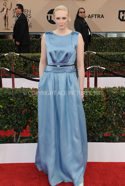 WWW.ACEPIXS.COM<br /> <br /> January 30 2016, LA<br /> <br /> Gwendoline Christie arriving at the 22nd Annual Screen Actors Guild Awards at the Shrine Auditorium on January 30, 2016 in Los Angeles, California<br /> <br /> By Line: Peter West/ACE Pictures<br /> <br /> <br /> ACE Pictures, Inc.<br /> tel: 646 769 0430<br /> Email: info@acepixs.com<br /> www.acepixs.com