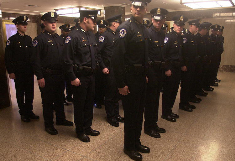 cop5/012403  - Class #133 of the Capitol Police force before their graduation ceremony.