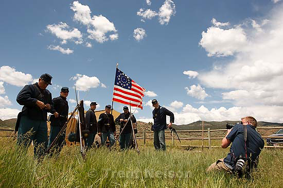 Mountain Meadows - An honor guard made up of descendants of the Mountain Meadows Massacre survivors prepare for a commemoration at the site, Saturday May 30, 2009. chris onstott