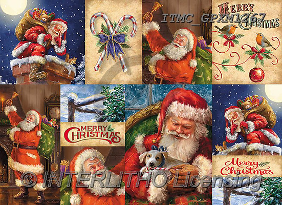 Marcello, GIFT WRAPS, GESCHENKPAPIER, PAPEL DE REGALO, Christmas Santa, Snowman, Weihnachtsmänner, Schneemänner, Papá Noel, muñecos de nieve, paintings+++++,ITMCGPXM1267,#GP#,#X#,collage