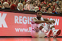 March 9, 2014: Leslee Smith (21) of the Nebraska Cornhuskers waiting to go into the game during the second half against the Wisconsin Badgers at the Pinnacle Bank Arena, Lincoln, NE. Nebraska 77 Wisconsin 68.