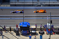 Verizon IndyCar Series<br /> Indianapolis 500 Practice<br /> Indianapolis Motor Speedway, Indianapolis, IN USA<br /> Tuesday 16 May 2017<br /> Alexander Rossi, Andretti Herta Autosport with Curb-Agajanian Honda and Fernando Alonso, McLaren-Honda-Andretti Honda<br /> World Copyright: F. Peirce Williams