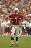 Aug 18, 2007; Glendale, AZ, USA; Arizona Cardinals kicker Neil Rackers (1) against the Houston Texans at University of Phoenix Stadium. Mandatory Credit: Mark J. Rebilas-US PRESSWIRE Copyright © 2007 Mark J. Rebilas