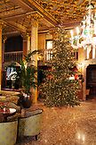 ITALY, Venice. A Christmas Tree in the lobby of the Hotel Danieli.