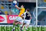 Declan O'Sullivan South Kerry in action against Danny Sheahan Legion at the Kerry County Senior Football Final at Fitzgerald Stadium on Sunday.