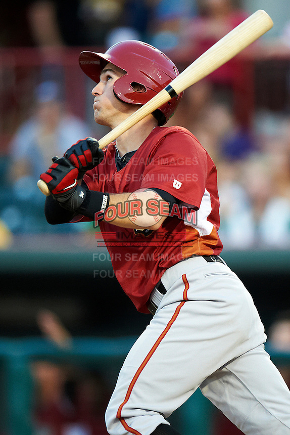 Altoona Curve shortstop Drew Maggi #3 during an Eastern League game against the Erie Seawolves at Jerry Uht Park on August 31, 2012 in Erie, Pennsylvania.  Altoona defeated Erie 4-3.  (Mike Janes/Four Seam Images)