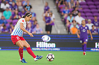 Orlando, FL - Saturday August 05, 2017: Jennifer Hoy during a regular season National Women's Soccer League (NWSL) match between the Orlando Pride and the Chicago Red Stars at Orlando City Stadium.