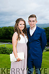 Enjoying the Colaiste na Sceilge Debutante Ball at Ballyroe Heights Hotel on Tuesday were l-r  Aoife O'Donoghue and Keelan Brosnan.
