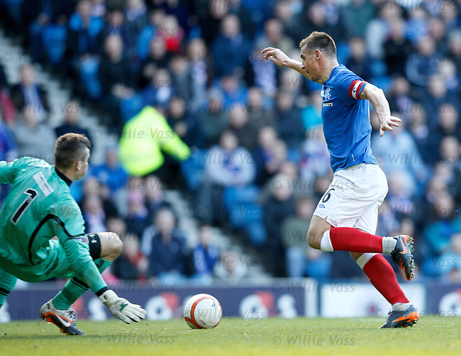 Lee McCulloch takes the ball around keeperGrant Hay to score the second goal for Rangers