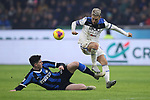 Alessandro Bastoni of Inter challenges Alejandro Gomez of Atalanta during the Serie A match at Giuseppe Meazza, Milan. Picture date: 11th January 2020. Picture credit should read: Jonathan Moscrop/Sportimage