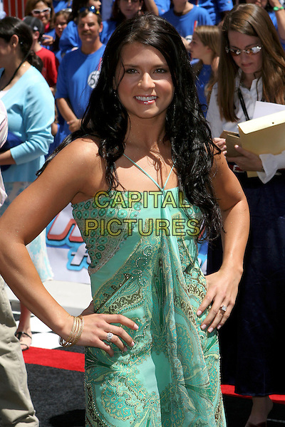 "DANICA PATRICK.World Premiere of ""Herbie Fully Loaded"" held at the .El Capitan Theatre, Hollywood, CA, USA,.19 June 2005..half length green dress.Ref: ADM.www.capitalpictures.com.sales@capitalpictures.com.©Jacqui Wong/AdMedia/Capital Pictures."