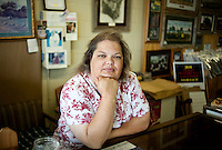 Raydean Damon (cq), owner and operator of The Red Bull gift shop and Bush memorabilia store, in her shop in Crawford, Texas, US, Wednesday, April 14, 2010. The Red Bull store is the last remaining gift shop in Crawford...PHOTO/ MATT NAGER