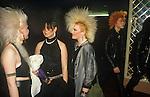 Sigue Sigue Sputnik big hair fans. Punk band 1980s Newcastle Upon Tyne. UK