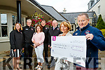 Kathriona Sheehan and Kay McNamara (The Rosemary Centre, Caherslee, Tralee), pictured on Friday evening last who were presented with a cheque cheque of €5,500 from The Chain Gang Cycling Club, Tralee, with funds raised from the SRAC Charity Cycle and The Chain Gang Cycling Club Ring of Kerry Cycle, l-r: Jean Hanafin Dave Elton, Kathriona Sheehan, Tomas Crowley, Seamus Cotter, Kay McNamara and John Murray.