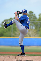 Toronto Blue Jays pitcher Brad Allen (48) during a minor league spring training game against the New York Yankees on March 24, 2015 at the Englebert Complex in Dunedin, Florida.  (Mike Janes/Four Seam Images)
