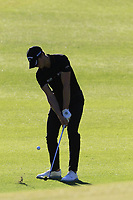 Thomas Detry (BEL) chips onto the 16th green during Friday's Round 2 of the 2018 Turkish Airlines Open hosted by Regnum Carya Golf &amp; Spa Resort, Antalya, Turkey. 2nd November 2018.<br /> Picture: Eoin Clarke | Golffile<br /> <br /> <br /> All photos usage must carry mandatory copyright credit (&copy; Golffile | Eoin Clarke)