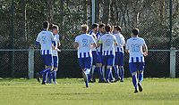 RC BISSEGEM - SV WEVELGEM CITY :<br /> spelers van Bissegem vieren de gelijkmaker<br /> <br /> Foto VDB / Bart Vandenbroucke