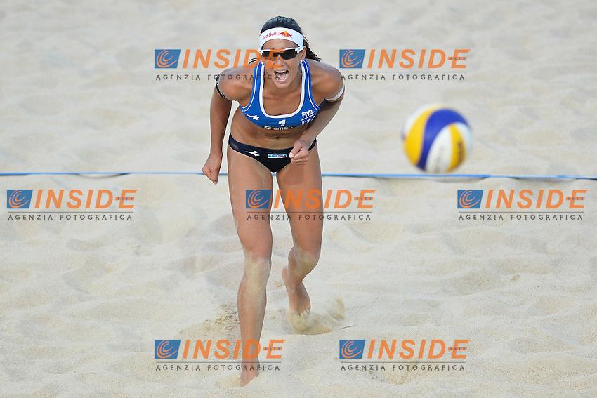Marta Menegatti Italia <br /> Roma 21/6/2013 Foro Italico <br /> FIVB Beach Volleyball World Tour <br /> Men's smart Grand Slam Rome 2013<br /> Foto Andrea Staccioli Insidefoto