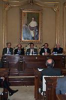 S&Atilde;O PAULO-SP-18,08,2014-MINISTRO DO STJ-LUIS FELIPE SALOM&Atilde;O/LAN&Ccedil;AMENTO/&quot;DIREITO PRIVADO-TEORIA E PR&Aacute;TICA&quot;-<br /> (da esquerda &agrave; direita)Roberto Rosa:Antonio Matias Couto;Ministro do Superior Tribunal Federal Luis Felipe Salom&atilde;o e Fabio Pietro de Souza durante o lan&ccedil;amento do livro &quot;Direito Privado-Teoria e Pr&aacute;tica,na Faculdade de Direito da USP,Largo S&atilde;o Franscisco na regi&atilde;o central da cidade de S&atilde;o Paulo,nessa segunda,18 (Foto:Kevin David/Brazil Photo Press