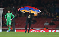 A fan invades the pitch<br /> <br /> Photographer Rob Newell/CameraSport<br /> <br /> UEFA Europa League Group E - Arsenal v FK Qarabag - Thursday 13th December 2018 - Emirates Stadium - London<br />  <br /> World Copyright &copy; 2018 CameraSport. All rights reserved. 43 Linden Ave. Countesthorpe. Leicester. England. LE8 5PG - Tel: +44 (0) 116 277 4147 - admin@camerasport.com - www.camerasport.com
